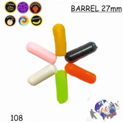 BARREL 27*9mm MIX1 6шт  Сыр (1.2гр)